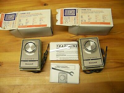 Honeywell Thermostat T498B 1512 Lot of Two  New in Boxes