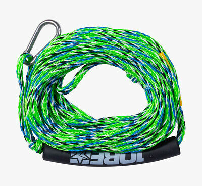 2020 Jobe Heavy Duty Towable Tube Rope, 2 Rider With Hook Lime or Red. 42679