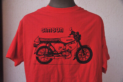 SIMSON S-51 ★ Heavy T-Shirt * NEU * Siebdruck * Moped * DDR * red * Suhl * rot