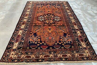 Authentic Hand Knotted Afghan Balouch Animal Pictorial Wool Area Rug 6 x 4 Ft