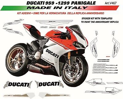 Stickers Kit - Dime For Paint Replica Anniversary Ducati 959 Panigale
