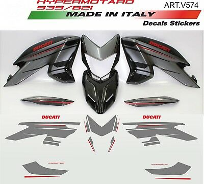 Stickers Kit For Ducati Hypermotard 821/939 Silver