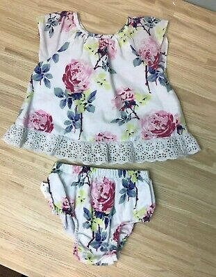Baby Gap Girls Top Set 12 18 Months Bloomer Summer
