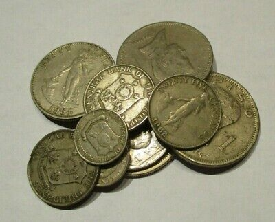 Lot of 10 Vintage Philippines Coins - Circulated-1963 to 1982