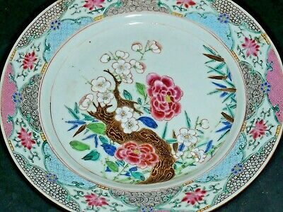 Very Beautiful Old Chinese Plate With Unusual Decoration - Rare - L@@K