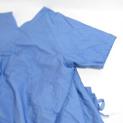Fashion Seal Healthcare Hospital Gown Lot of 4 NEW Blue Coverall Short Sleeves