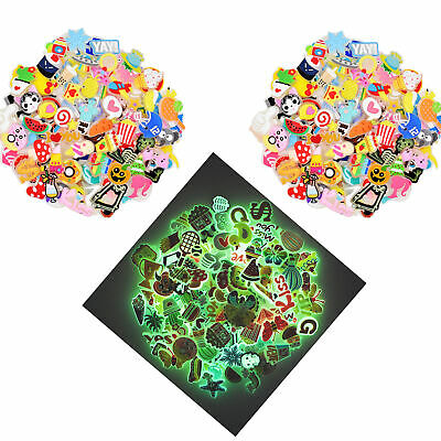 100 Random Mixed Designs Glowing Glint Shoe Adapts Decorations for Unisex Gifts
