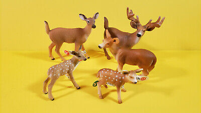 Schleich Lot 5 RED DEER STAG FAWN Animal Wildlife Figures
