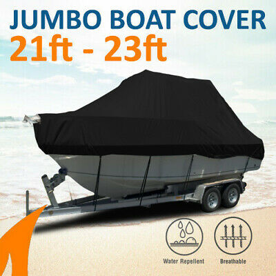 Heavy-Duty, Marine Grade 21ft-23ft / 6.4m-7.0m Trailerable Jumbo Cover - Black