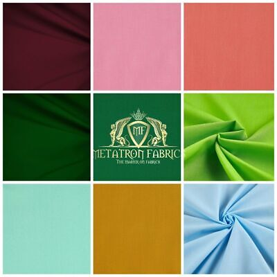 "Solid Poly Cotton Fabric Broadcloth 58""/ 60""Wide By The Yard (Choose the color)"
