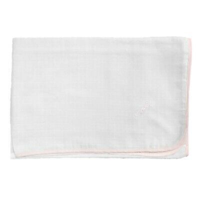 Square Of Gauze White/Pink Newborn NINNAOH Towel