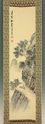 "掛軸1967 JAPANESE HANGING SCROLL : YOSA BUSON ""Calm Scenery"" w/box  @f350"