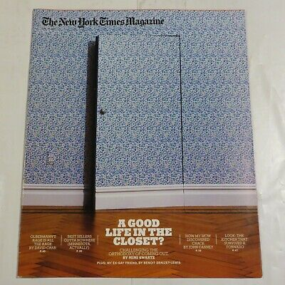 New York Times Magazine June 2011 Good life in the Closet Orthodoxy coming ou Y1