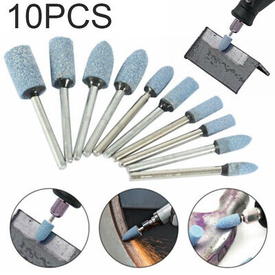 10x Grinding Ceramic Stone Polishing Drill Bit for  Rotary Die Grinder Tools
