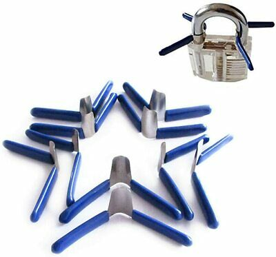 10PCS Padlock Shims Key Unlocking Accessories Tool Kit Set without Lock Blue