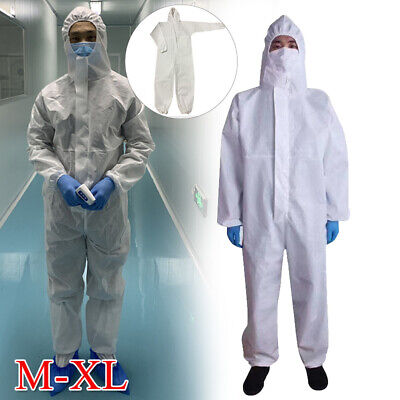 Coverall Protective Suit Safety Overall Work Clothing Breathable Waterproof M/XL
