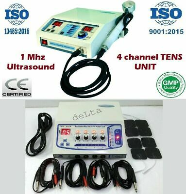 Advance Combo Portable 4 channel Electrotherapy+Ultrasound Therapy Management #@