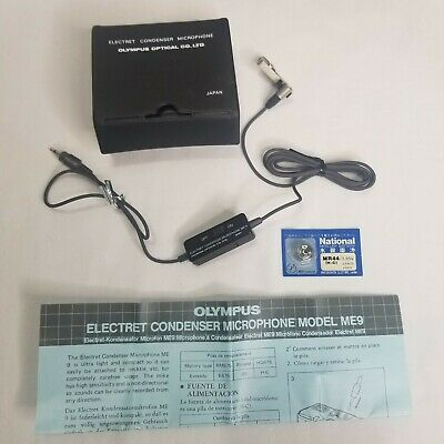 Vintage Olympus Lapel Clip On Electret Condenser Microphone ME9 Battery Japan