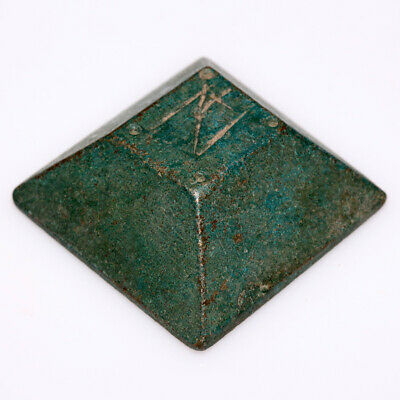 ANCIENT BYZANTINE BRONZE SQUARE WEIGHT CIRCA 500-700 AD-48.34gr