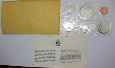 1965 Canada Proof-like Set 6-coins Canadian in Original Packaging Free Shipping!