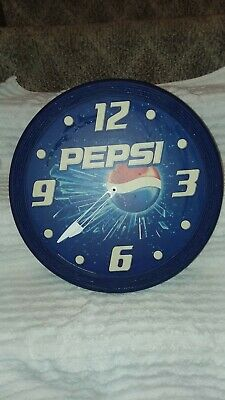 Vintage Pepsi Clock18 inches wide made by Impact International Inc.