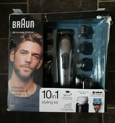 Braun MGK7021 3,6V 10-in-1 All-in-One Trimmer Razer Rechargeable Black