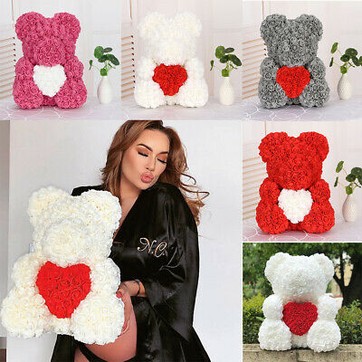 Large 40 cm Foam Rose Flower Rose Teddy Bear For Birthday Wedding Party Gift New