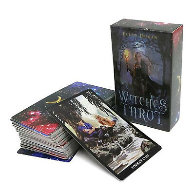 Tarot Deck Cards 78 Witches Divination Prophet Cards Family & Party Playing