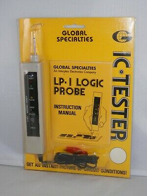 Vintage Global Specialties Logic Probe LP-1 IC Tester - Circuit Troubleshooting