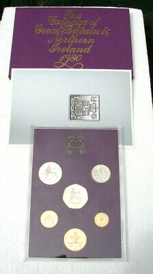 1980 UK  Royal Mint Uncirculated Coin Collection Presentation Pack