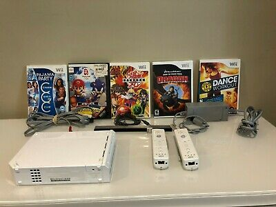 Nintendo Wii Console Bundle With Accessories & Games Tested Guaranteed Working!
