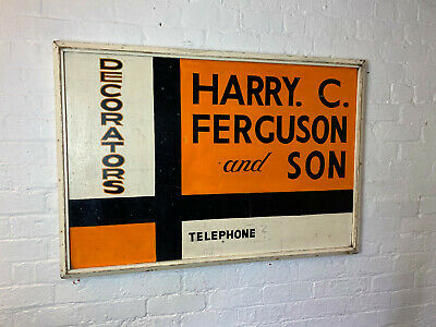 Vintage Hand Painted Wooden Sign Decorators Advertising Circa 1960s