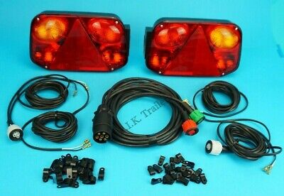 LH & RH Radex 2800 Quick Fit Plug in Rear Trailer Lamp with 8m Loom Harness