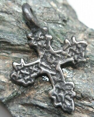 Ancient Viking Ornament Solid Silver Pendant Cross Reproduction (RP004)
