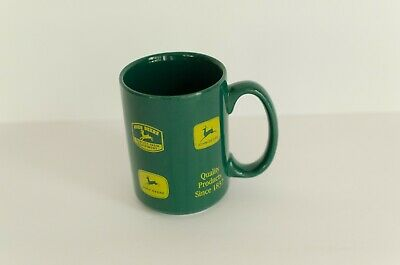 RARE! John Deere Moline ILL Collectible Coffee Cup Mug Green Yellow Logos
