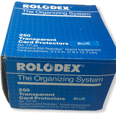 Vintage Rolodex The Organizing System 250 Transparent Card Protectors Clear