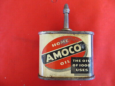 Vintage AMOCO Home Oil 1oz Can American Oil Company w/ Lid LOOK 1593