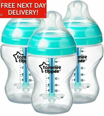 Tommee Tippee Advanced Anti-Colic Baby Bottles, (3x 260 ml)