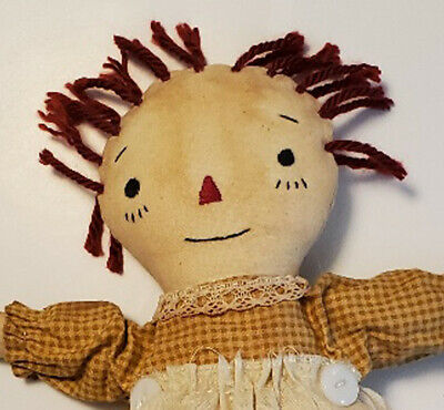 Primitive Raggedy Ann Doll Handmade Prim Excellent Condition EUC