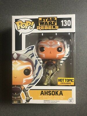 Funko POP Star Wars Rebels AHSOKA TANO #130 Vinyl Hot Topic Exclusive New