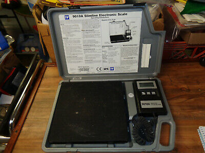 TIF 9010A Slimline Electronic Refrigerant Scale Charging WORKS GREAT (sa)