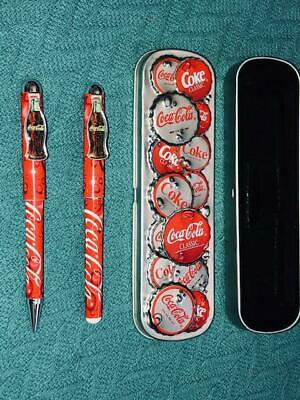 Coca Cola Pen & Pencil Set NEVER USED Brand New Condition (Bottle Tops Set 2)