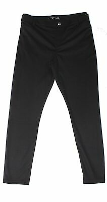 Riders By Lee Women Black US Large L Pull On Ponte Knit Pants Stretch $59 #718
