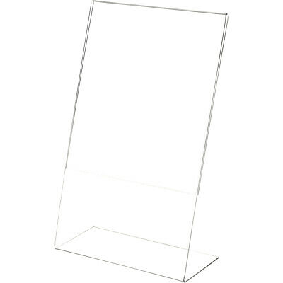 "Plymor Clear Acrylic Sign Display / Literature Holder (Angled), 8.5"" W x 14"" H"