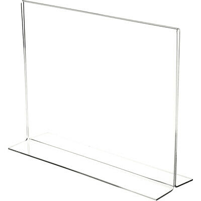 "Plymor Clear Acrylic Sign Display/Literature Holder (Bottom-Load), 14"" W x 11"" H"