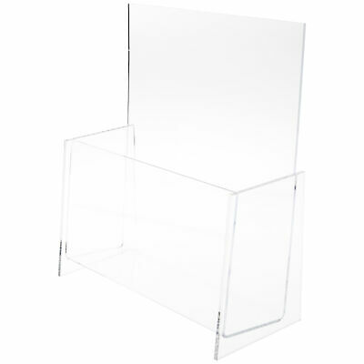 """Plymor Clear Acrylic Brochure / Document Literature Holder, Fits 9"""" Magazines"""