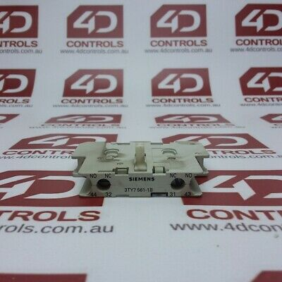 3TY7561-1B | Siemens | Auxiliary Contact 1 N.O.+1 N.C. Right Mount - Used
