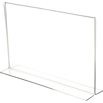 "Plymor Clear Acrylic Sign Display/Literature Holder (Bottom-Load), 17"" W x 11"" H"
