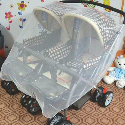Insect Cover Mosquito dust protect cover net mesh Pram Twin Stroller Protector