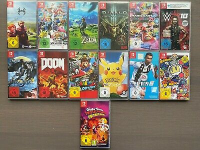 Nintendo Switch Spiele Auswahl Breath of the Wild, Mario Kart 8, Mario Odyssey